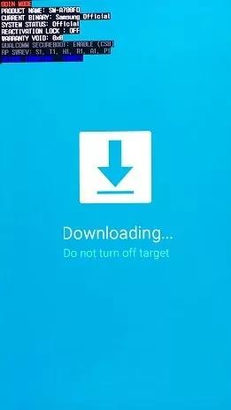 entrar no modo download samsung