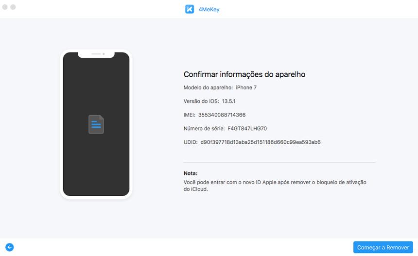 remover bloqueio de ativação iphone etapa 5