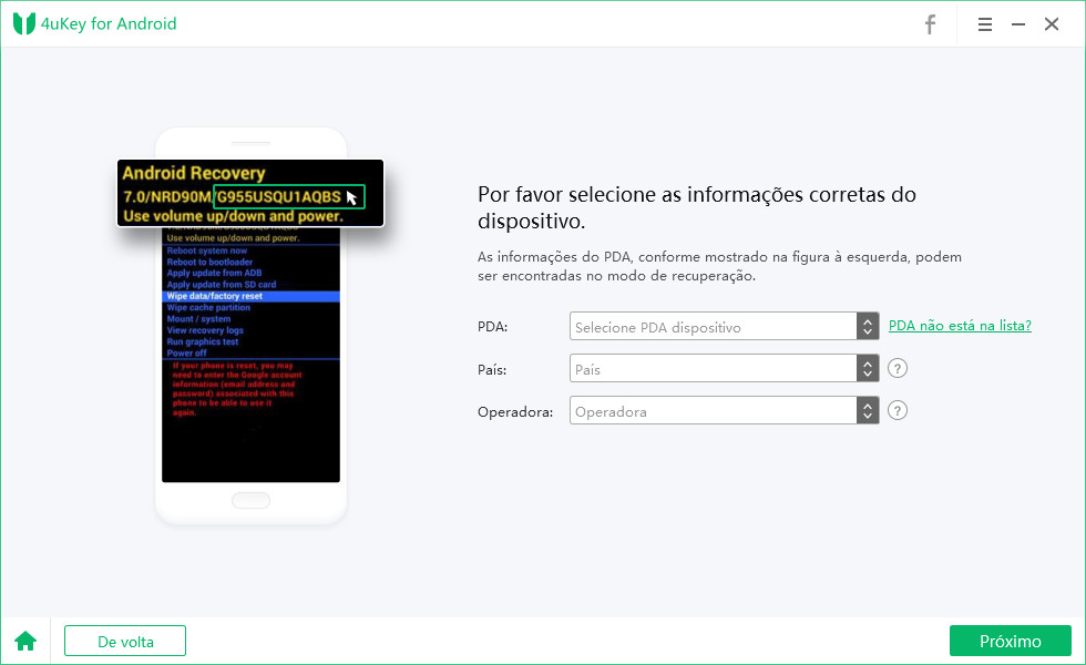 choose Samsung pda list