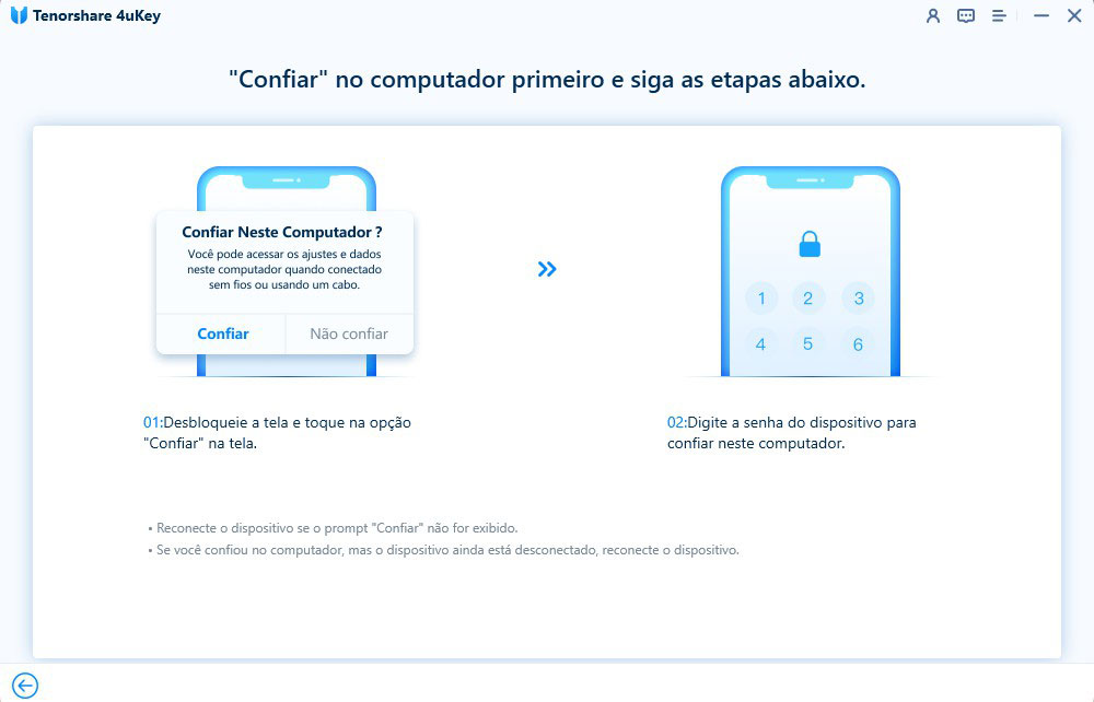 guia de remover id apple com 4uKey etapa 2