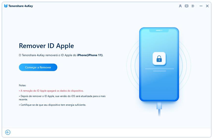 guia de desbloquear id apple com 4uKey etapa 3