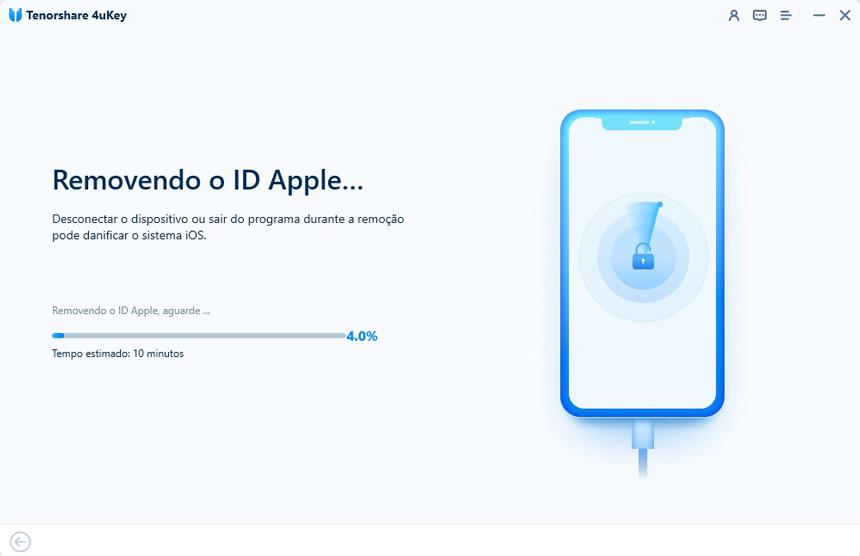 guia de remover id apple com 4uKey etapa 3