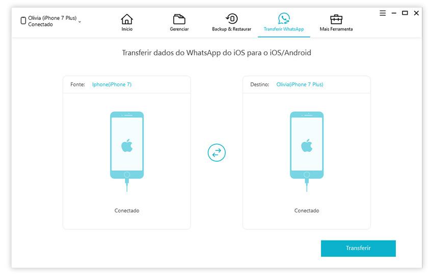 guia de transferir whatapp do iphone para iphone com icarefone