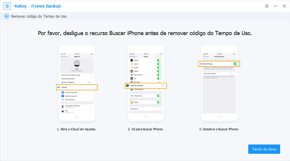 desligar buscar iPhone