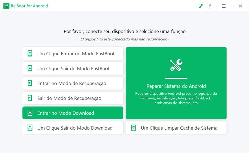 entrar no modo download com reiboot for android