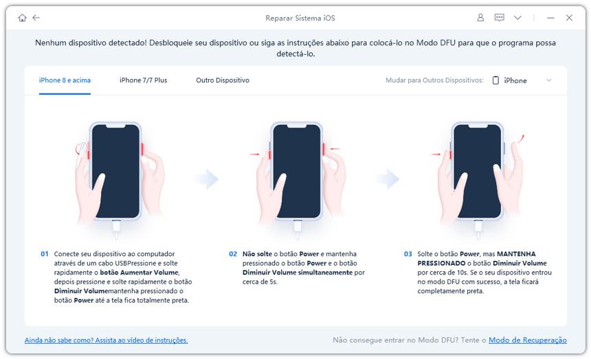 guia de restaurar iphone sem itunes com reiboot etapa 2