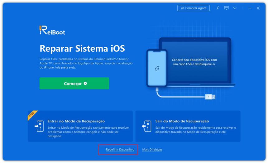guia de redefinir iphone com reiboot etapa 1