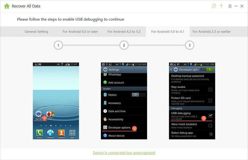 android 3.0-4.1 usb debugging