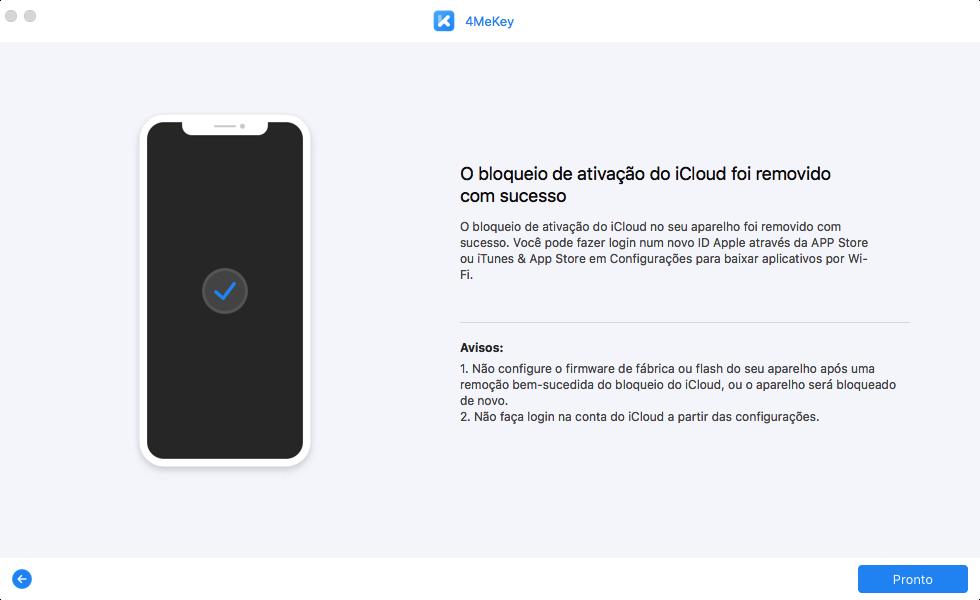 remover bloqueio de ativação iphone etapa 3